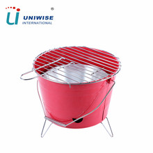 Portable Charcoal Barbeque Bucket BBQ Grill with Handle