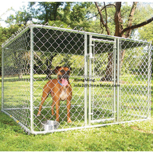 Hot Dipped Galvanized Chainlink Dog Kennel / Dog Fence