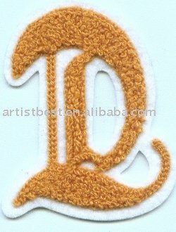 Chenille badge chenille fabric patch