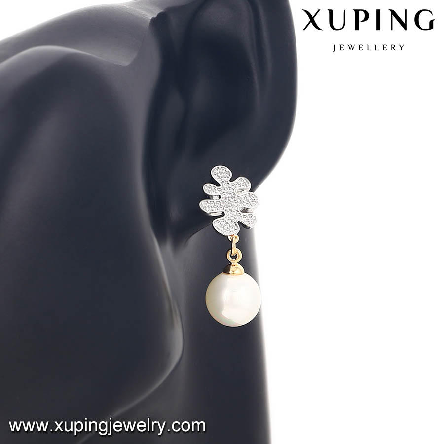 fashion artificial fake stud latest design of pearl earrings