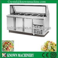 Kn-05L3F commercial refrigerated stainless steel salad bar