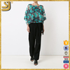 New Arrival new fashion lace blouse designs, summer floral crochet