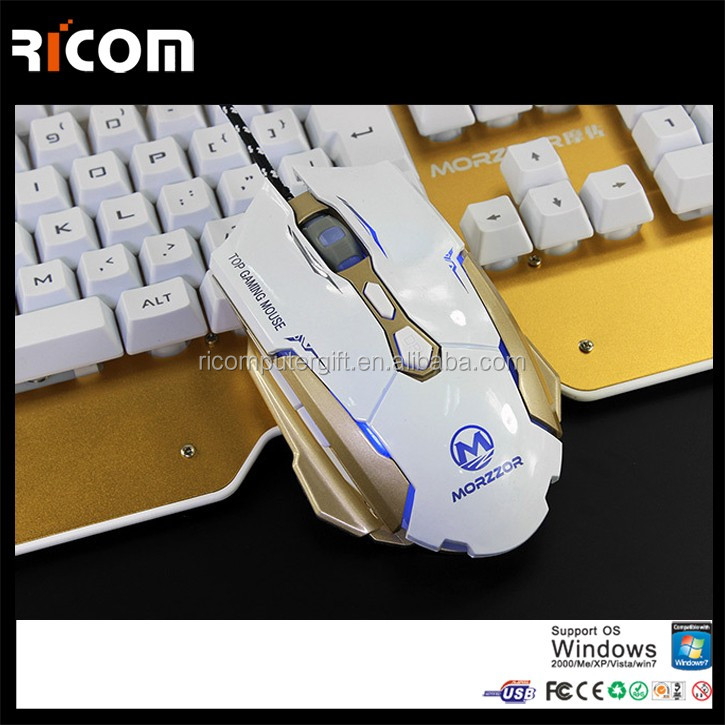 PC Computer Laptop 2400DPI LED Optical 6D USB Wired Game Gaming Mouse--GM15--Shenzhen Ricom