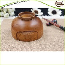 New style high quality chinese wood soup bowl and spoon set