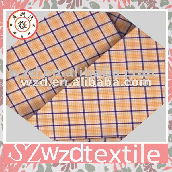 Gingham plaid fabric