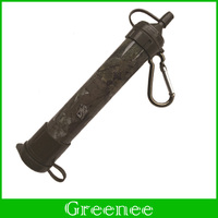 Army Green 99.999% Antibacterial Efficacy Water Straw Filter Convenient Water Stand Camping Travel Kit Emergency&Army