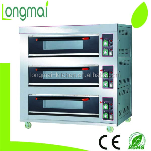 LM90Q/ ot selling luxury 3 deck 9 trays gas pie baking oven