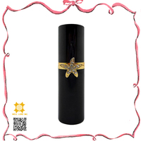 Shining Star Pure black eau de toilette spray jewel case perfume bottle pump atomizer