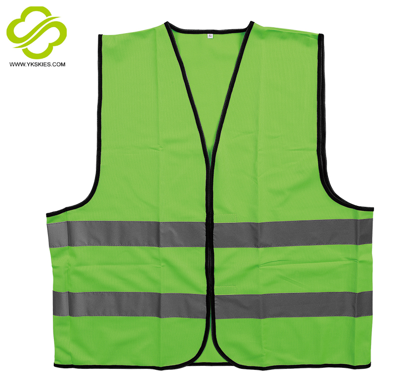 Europe standard knitting yellow reflective safety vest