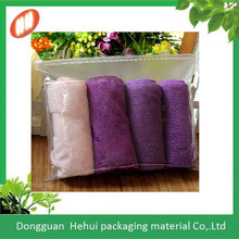 promotional zipper eva clear plastic clothing packaging bags