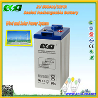 Maintance free battery high rate 2V500AH deep cycle sealed lead acid battery batteries with best price