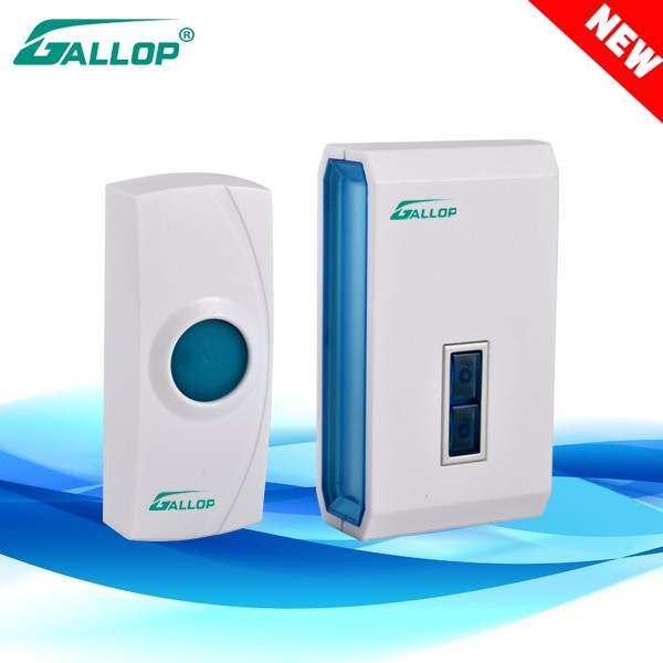 2016 Gallop IP44 warter proof wireless doorbell with CE long distance D138