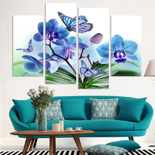 Home Decoration 5 Panel Modern Wall Painting Flowers Art Picture Canvas Print