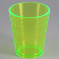 Custom Logo Printed LED plastic Shooter Cup, Flashing Shooter Glass