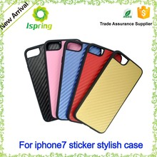 Hot Sell Anti-fall TPU PU Leather Sticker Mobile Phone Protective Case For iPhone 7