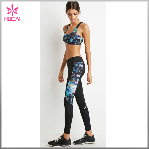Women's Poly / Spandex Print Yoga Pants Fashion Solid Bulk Leggings For Women
