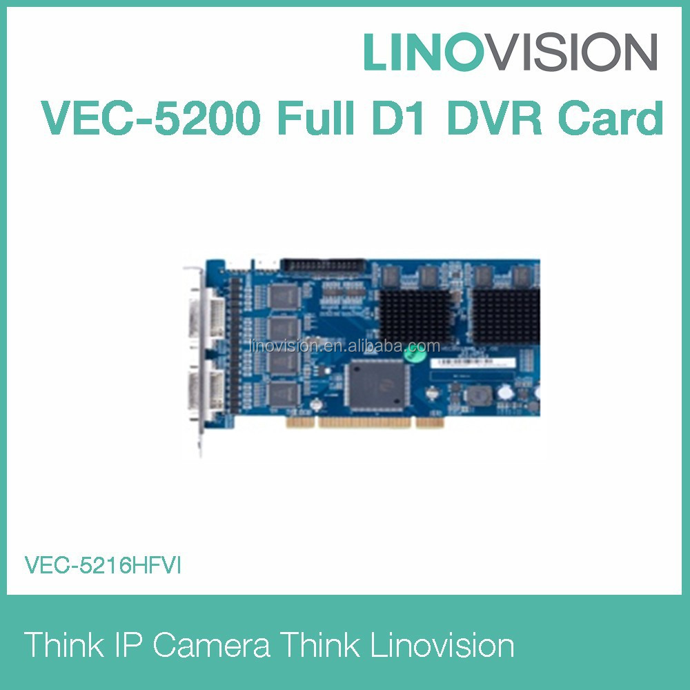 16 Channel Video & Audio Full-D1 H.264 DVR Card Techwell