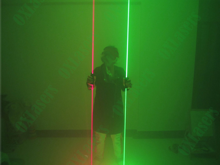 2 heads green laser pointer red laser swords for dj stage show dancing laser