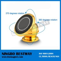 Universal 360 Degree Sticky Magnet Phone Holder Rotating Car Mount Phone GPS