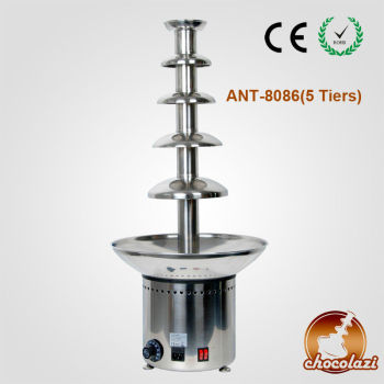 CHOCOLAZI ANT-8086 Auger 5 tiers 304 stainless steel commercial wireless chocolate fountain