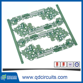 Non-conductive via plugging high frequency peelable glue copper pcb 2 layer circuit board