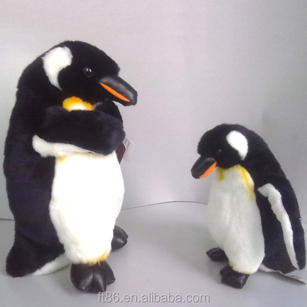 christmas lifelike plush battery operated penguin