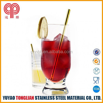 hot sell steel straw various sizes availabel