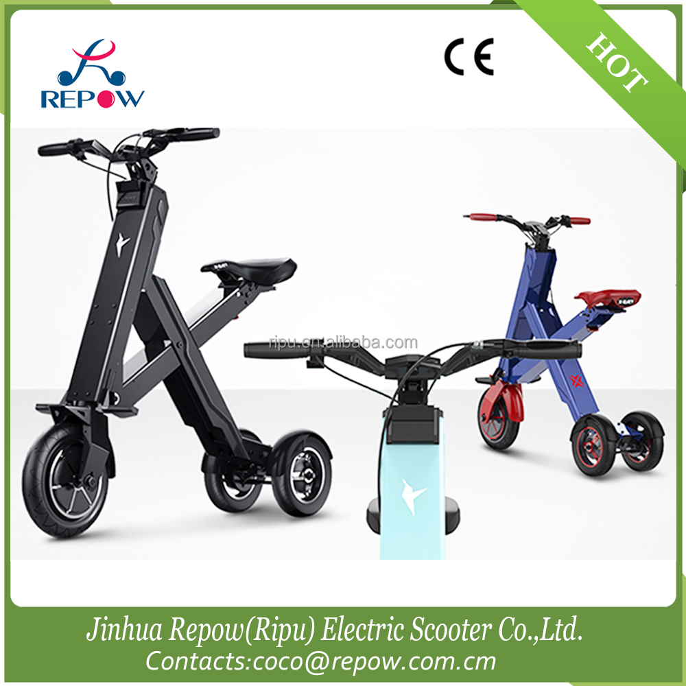 Three wheel Folding electric mobility scooter/light weight folding bike
