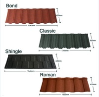 color stone chip coated steel roof tile types of roof covering step tile roof