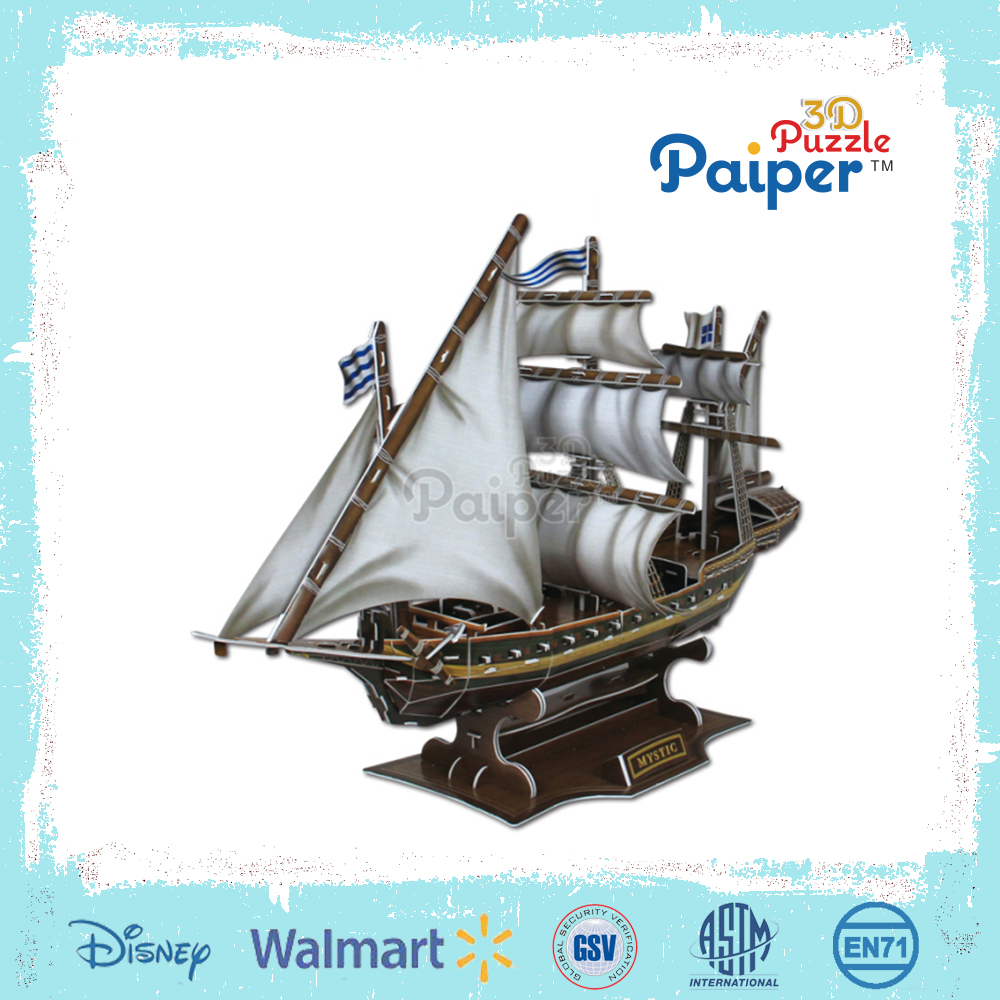 Intelligent funny puzzle mystic sailing ship model kits