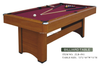 portable cheap indoor 6ft pool table whoelsale