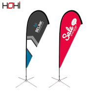 Advertising Usage Fiberglass Flagpole Material flying beach Polyester banner flag