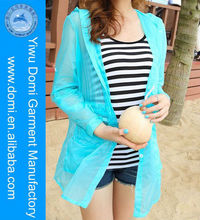 Popular multicolour beach dress women stock lot long sleeve beach hooded sun protection clothes coat online shopping dress