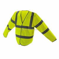 100% Polyester High Visibility Reflective Long Sleeves Security Wear