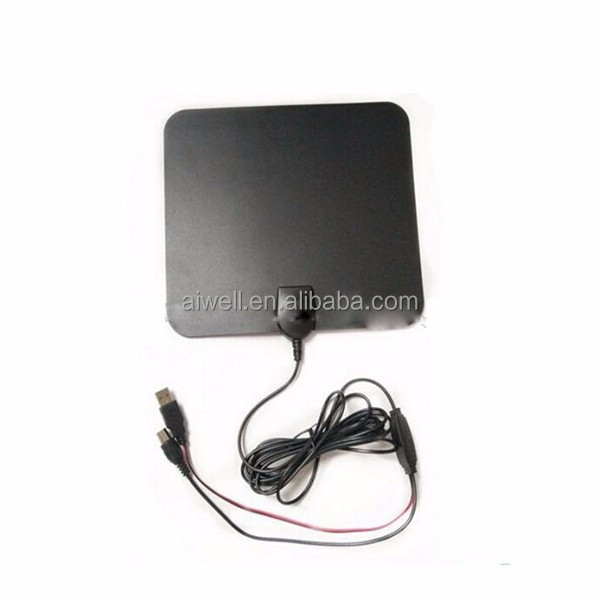 2016 Aiwell Indoor Digital HDTV Antenna 25dBi Ultra-thin with Detachable Amplifier Signal Booster ATSC Antenna DVB-T