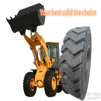 Hot sale natural rubber non pneumatic wheel loader tire for 17.5-25 18.00-25 with cheap price