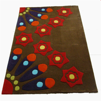 high quality Luxury Hand Tufted Carpet 100% New zealand wool