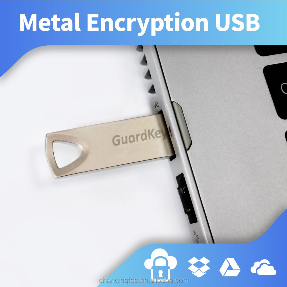Sliver-color, metal-material, and 8GB capacity encryption USB