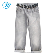 Hot Sale Girls Jean Casual Pant Children Long Jeans Pant with Belt