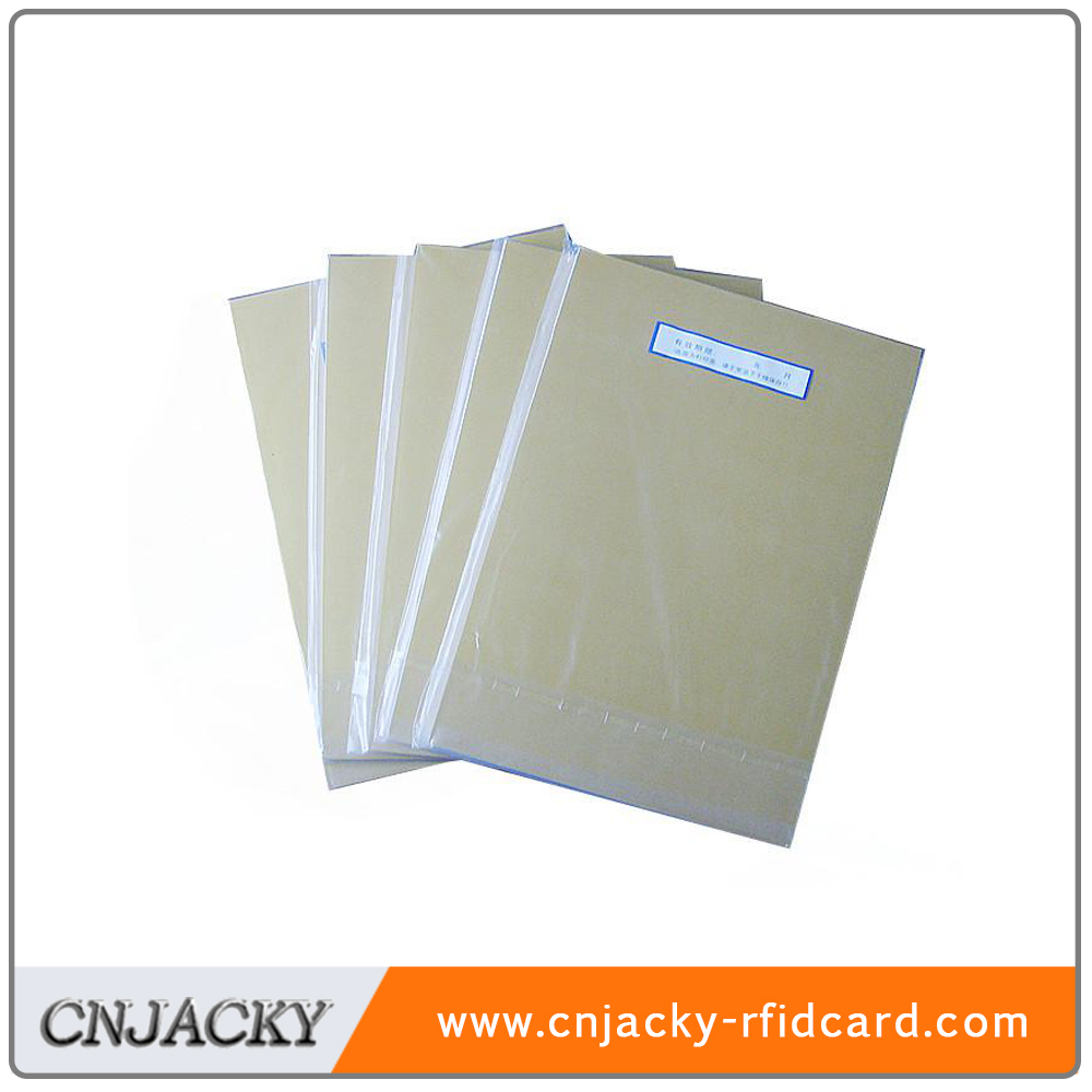 lowest price PVC sheet for card making gold,silver optional