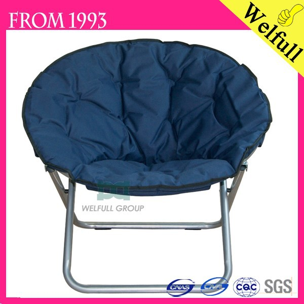 OEM 600D Strong Fabric Adult Folding Moon Chair Big Round Chair