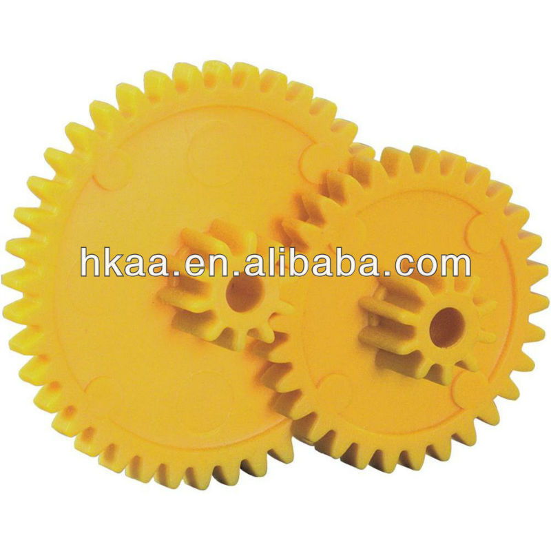 Good Function Plastic Cylindrical double spur gear for printer