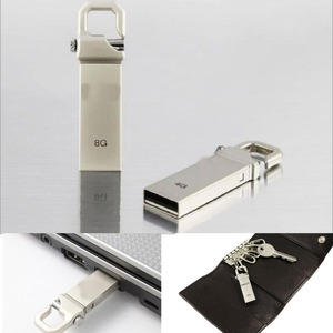 Keychain Memory Stick Pen Metal USB 2.0 U-Disk Flash Drive 4GB 8GB 16GB 32GB