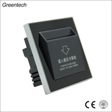 Hotel Key Card Switch, OEM&ODM, Tempered Glass Panel, Power Control System