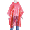 disposable pe ponchos/emergency rain ponchos/custom printing pe rain ponchos