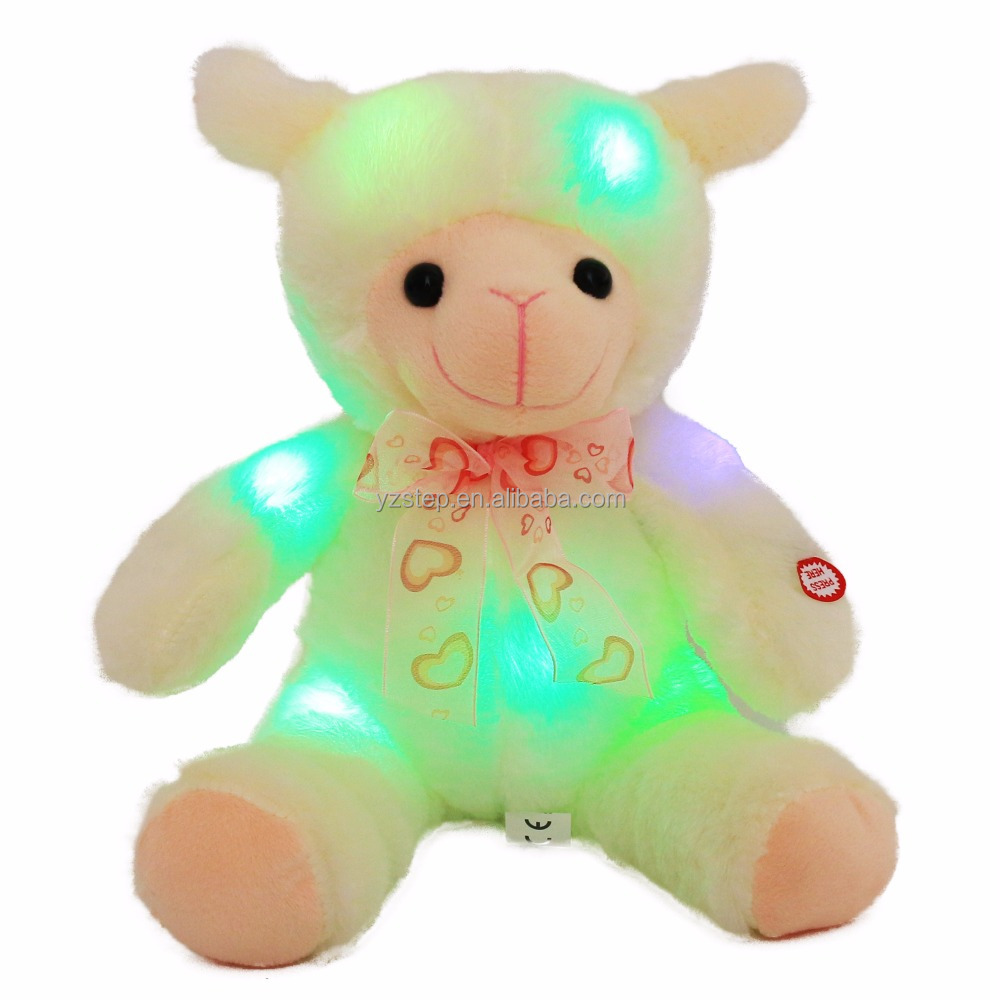 LED Night Glowing Sheep Plush Toy Light Up Plush <strong>Animals</strong>