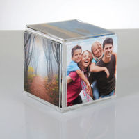 Wholesale Home Decoration clear 4x6 Acrylic Photo Frame cube