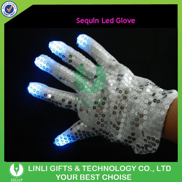 Magic Dancing Sequin Led Gloves, Flashing Gloves, Light Up Gloves