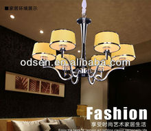 Yellow lampshade 12 volt chandelier dining room pendant lights
