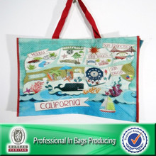 Lead-free Non Woven Laminated Floral Tote Bag